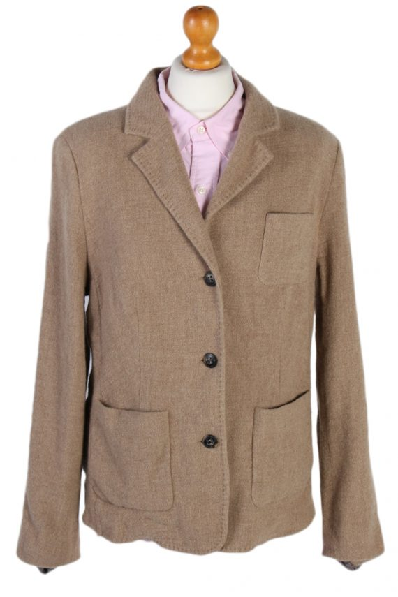 Vintage Escada Smart Cashmere Jacket Coat Bust 41 Beige HT2159-0
