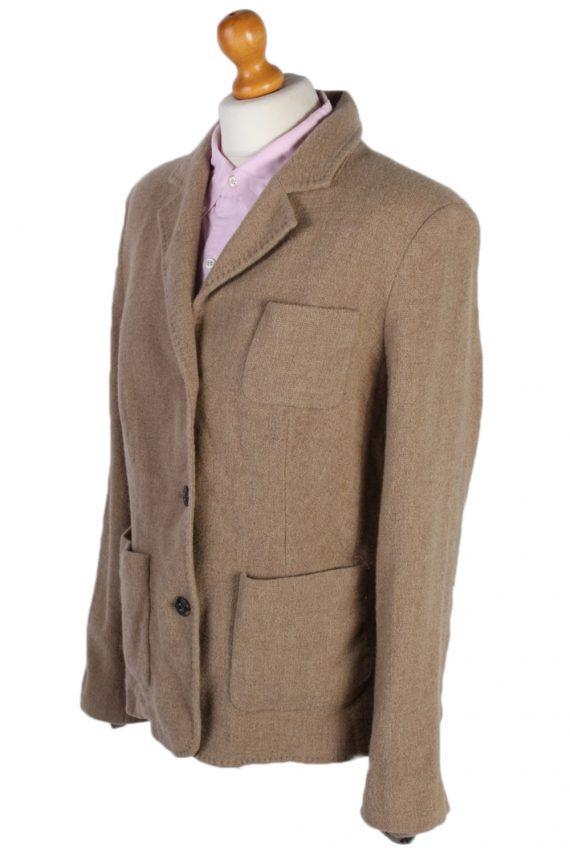 Vintage Escada Smart Cashmere Jacket Coat Bust 41 Beige HT2159-78964