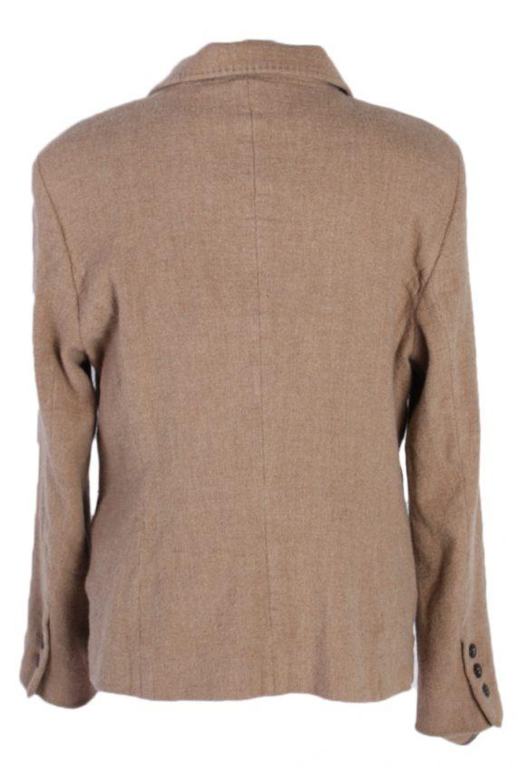 Vintage Escada Smart Cashmere Jacket Coat Bust 41 Beige HT2159-78965