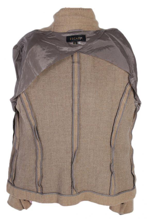 Vintage Escada Smart Cashmere Jacket Coat Bust 41 Beige HT2159-78966