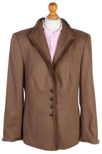 Escada Exclusive Camel Jacket Coat Brown XL