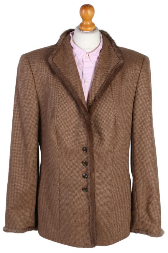 Vintage Escada Exclusive Camel Jacket Coat Bust 40 Brown HT2161-0