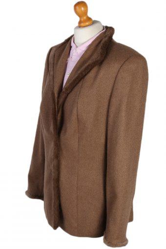 Vintage Escada Exclusive Camel Jacket Coat Bust 40 Brown HT2161-78832