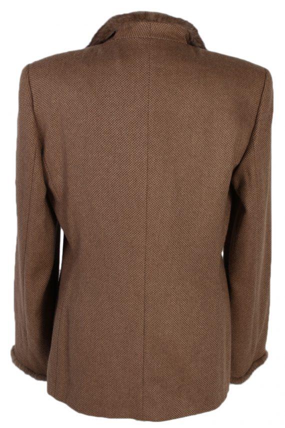 Vintage Escada Exclusive Camel Jacket Coat Bust 40 Brown HT2161-78833