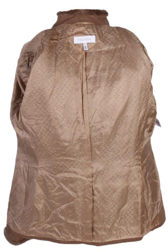 Vintage Escada Exclusive Camel Jacket Coat Bust 40 Brown HT2161-78834