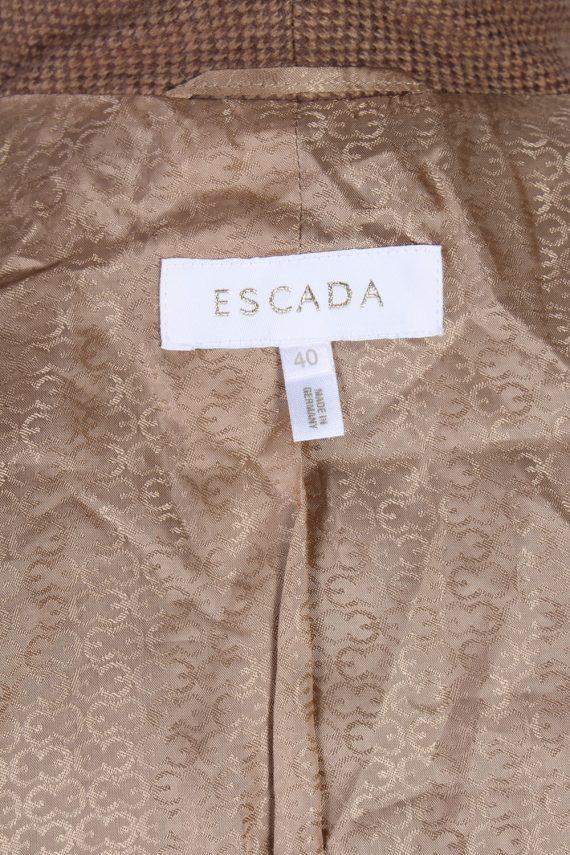 Vintage Escada Exclusive Camel Jacket Coat Bust 40 Brown HT2161-78835