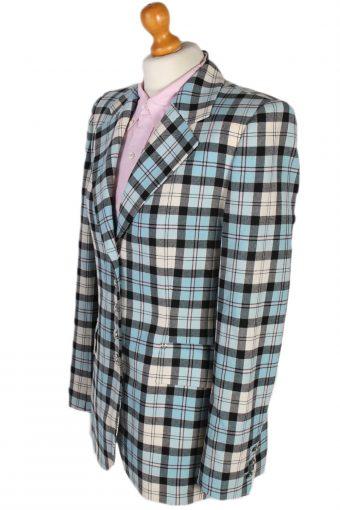Vintage Escada Check Tartan Jacket Coat Bust 38 Multi HT2162-78837