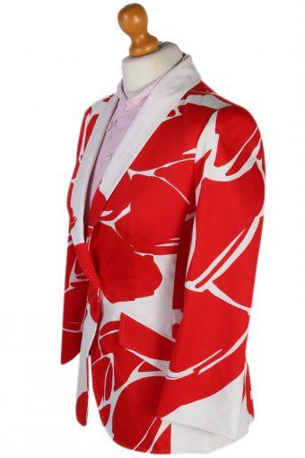 Vintage Escada Patterned Red White Jacket Coat Bust 32 Multi HT2170-78879