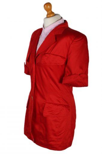 Vintage Escada Margaretha Ley Jacket Coat Bust 38 Red HT2175-78904