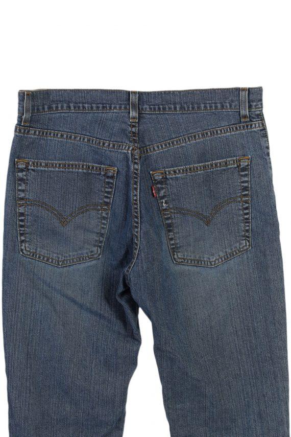Vintage Levi's Designer Mid Jeans Waist:32 Navy J3146-79696