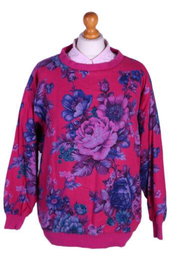 Crew Neck Sweatshirt 90s Tila Floral L