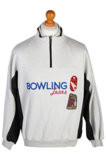 High Neck Sweatshirt 90s New Fast Bowling White M
