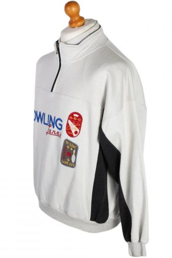 Vintage New Fast Bowling Pullover -SWeater M White -SW1783-80040
