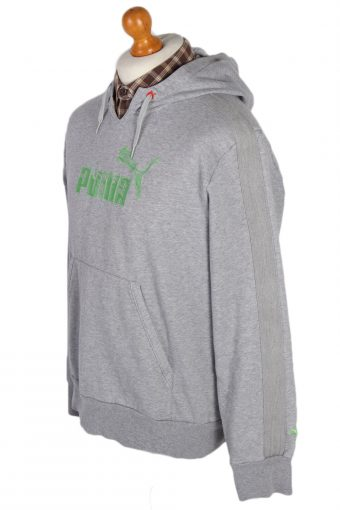 Vintage Puma Hooded -SWeater XL Grey -SW1797-80088