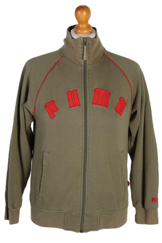 Vintage Puma Side Pocket -SWeater S Khaki -SW1808-0