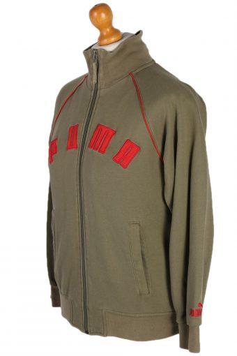Vintage Puma Side Pocket -SWeater S Khaki -SW1808-80132