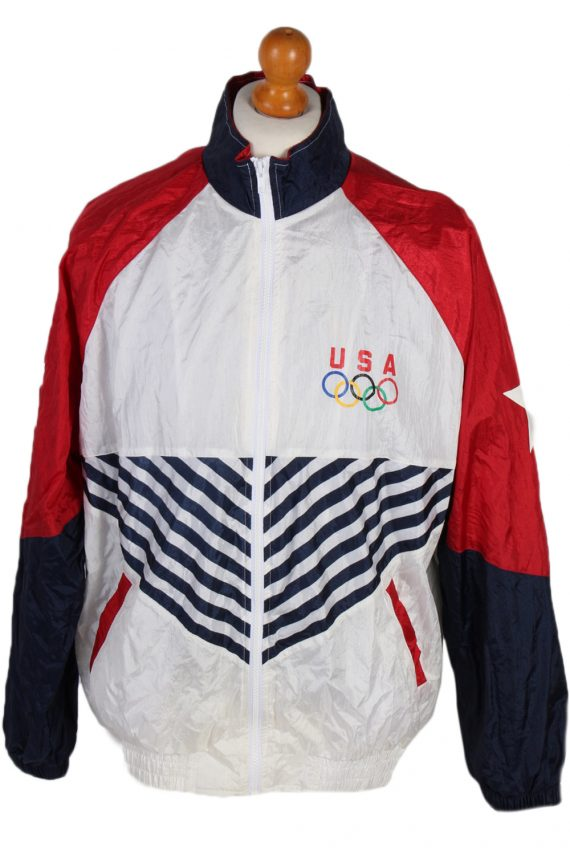 Vintage Licenced USA Shell Tracksuit Top L Multi -SW1846-0