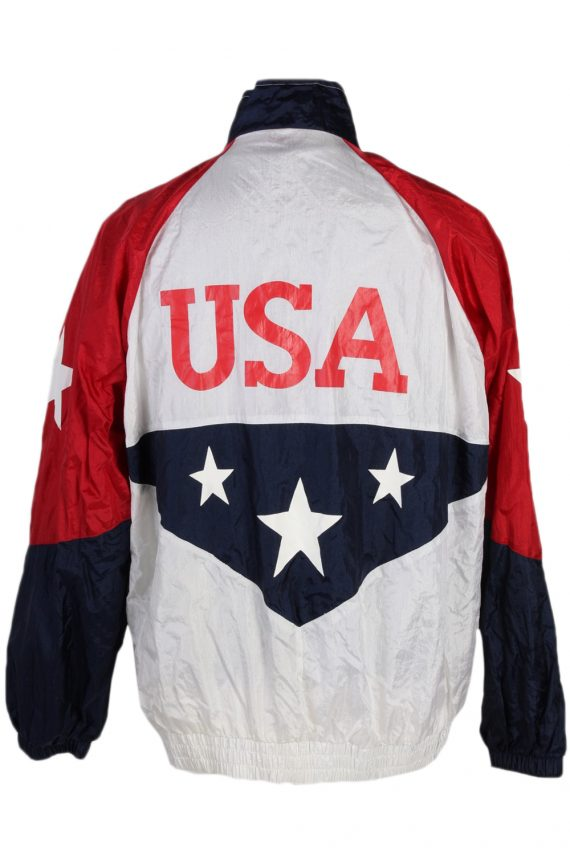 Vintage Licenced USA Shell Tracksuit Top L Multi -SW1846-80308