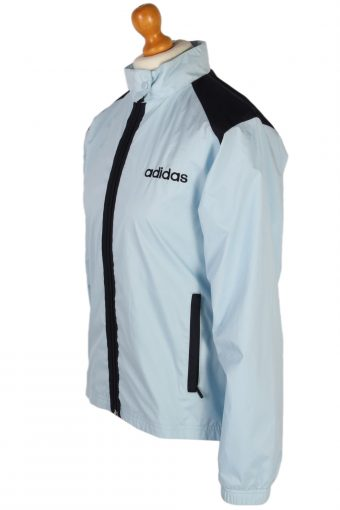Vintage Adidas Ladies Shell Tracksuit Top M Blue -SW1857-80362