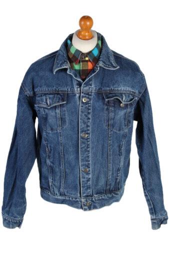 90s Retro Denim Jacket Dark Blue L