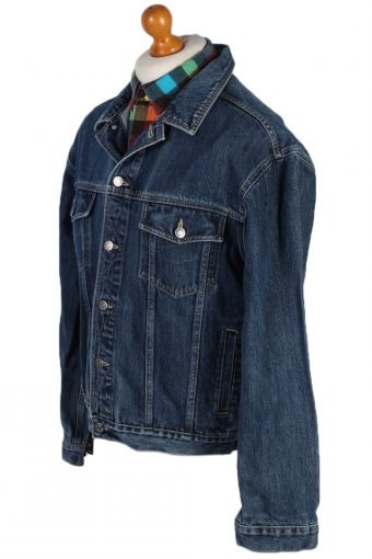 Vintage Savvy Trucker Denim Jacket L Navy -DJ1422-81079