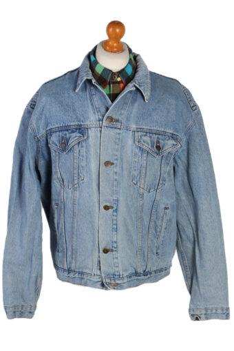 90s Retro Denim Jacket Blue XL