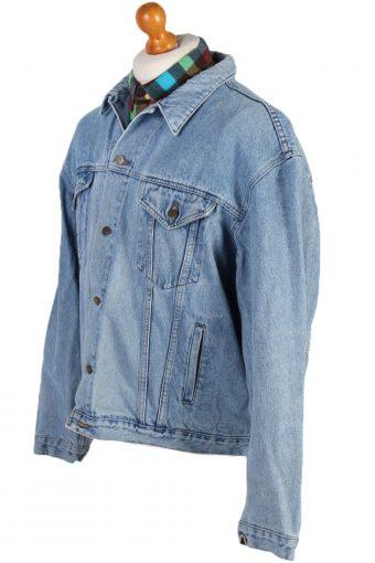 Vintage Stone Washed Trucker Denim Jacket XL Blue -DJ1427-81103