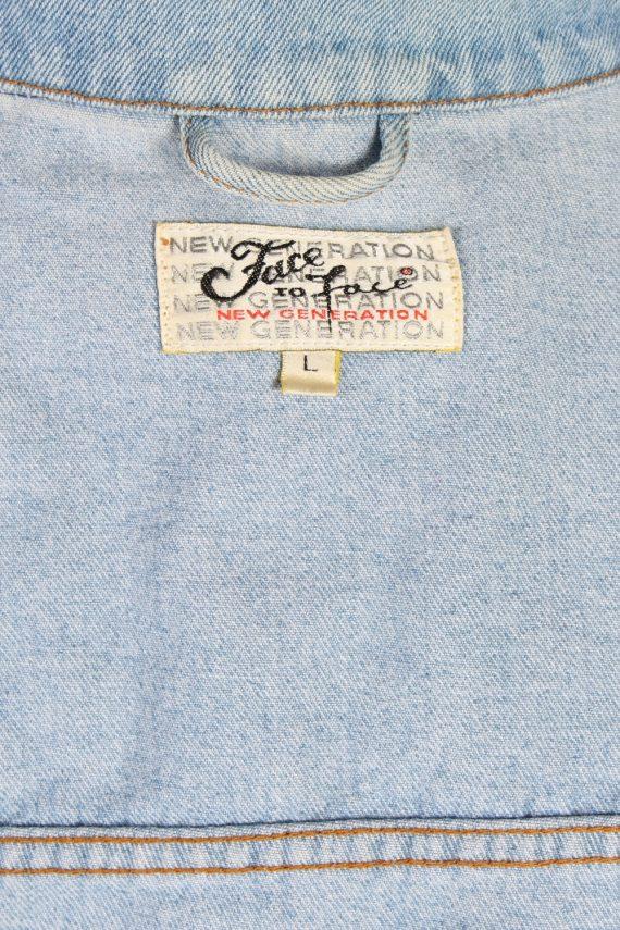 Vintage Face to Face Trucker Denim Jacket L Blue -DJ1429-81116