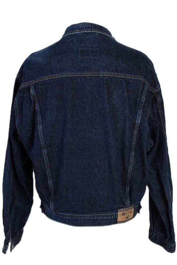 Vintage Mustang Trucker Denim Jacket L Navy -DJ1435-81144