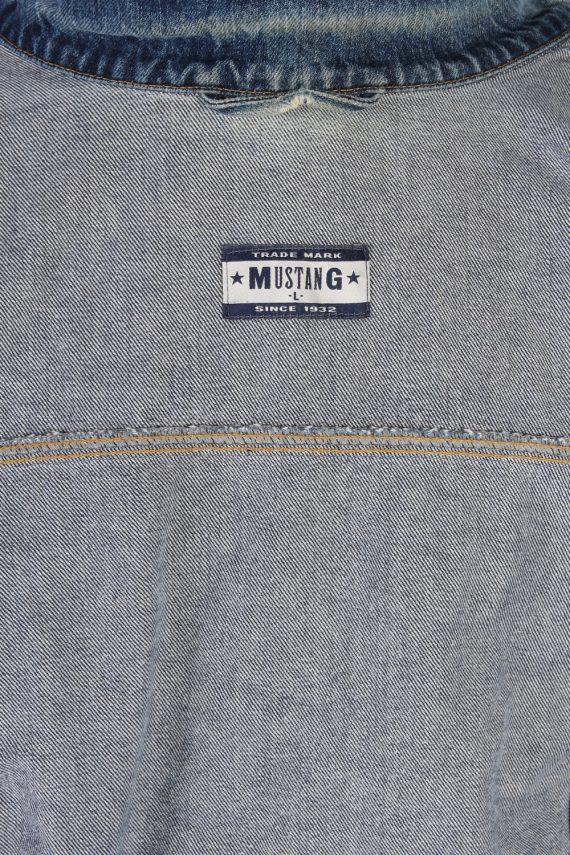 Vintage Mustang Trucker Denim Jacket L Navy -DJ1435-81146