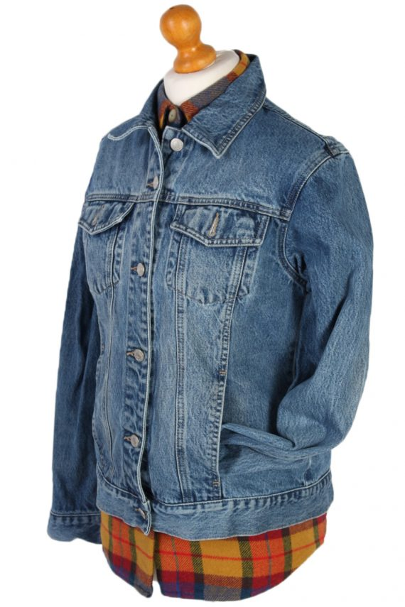 Vintage Jake's Faded Trucker Denim Jacket M Navy -DJ1437-81153