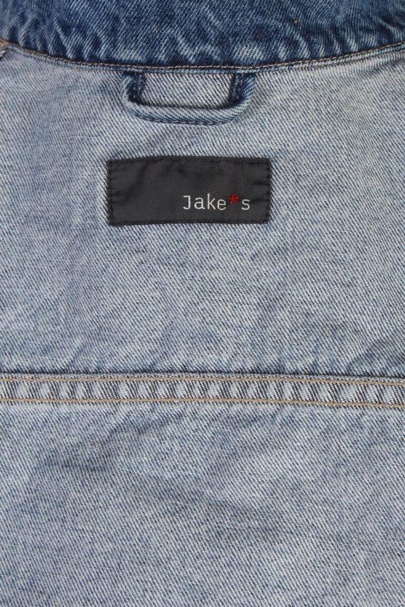 Vintage Jake's Faded Trucker Denim Jacket M Navy -DJ1437-81156