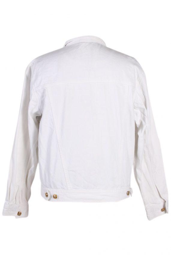 Vintage Diamon Designer Denim Jacket L White -DJ1449-81215
