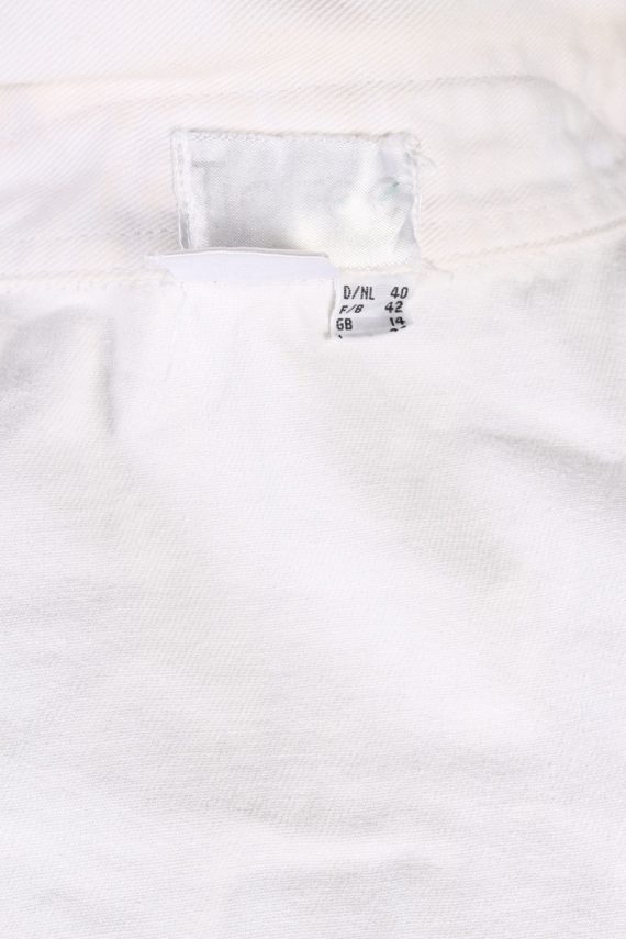 Vintage Diamon Designer Denim Jacket L White -DJ1449-81216