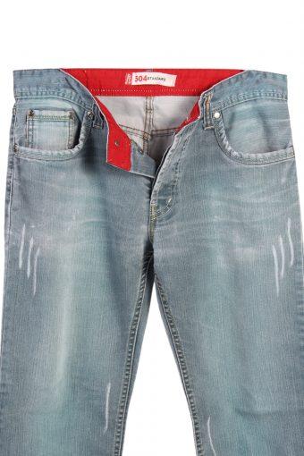 Vintage Levi's 504 Standart Ripped Designer Jeans Waist 33'' Teal J3174-80875