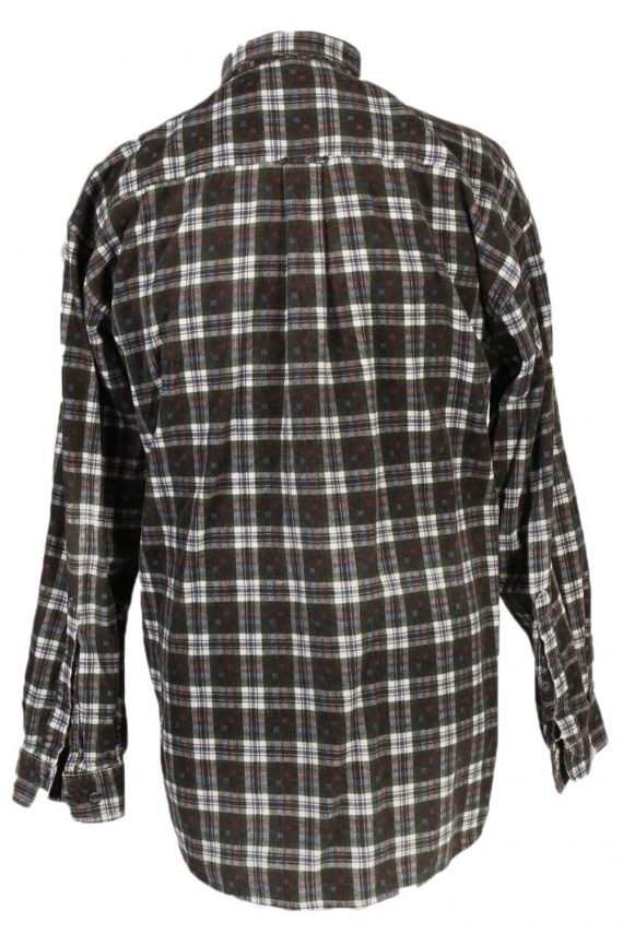 Vintage New Fast Checked Shirt S Green SH3236-81414