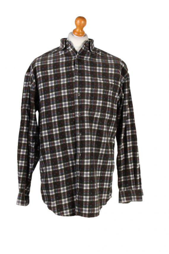 Vintage New Fast Checked Shirt S Green SH3236-0