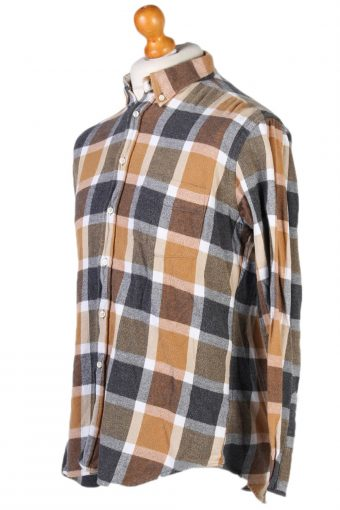 Vintage McNeal Checked Shirt M Brown SH3237-81417