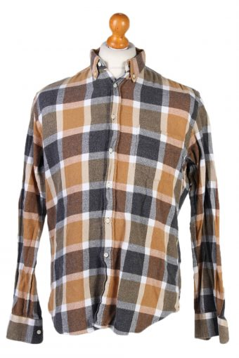 Flannel Shirt 90s Retro Brown M