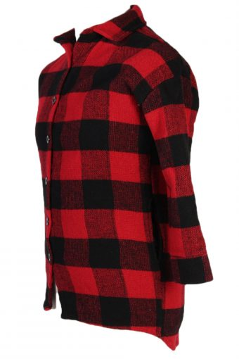 Vintage Other Brands Chess Flannel Shirt S Red SH3238-81421
