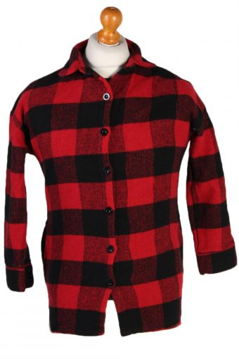 Flannel Shirt 90s Retro Red S