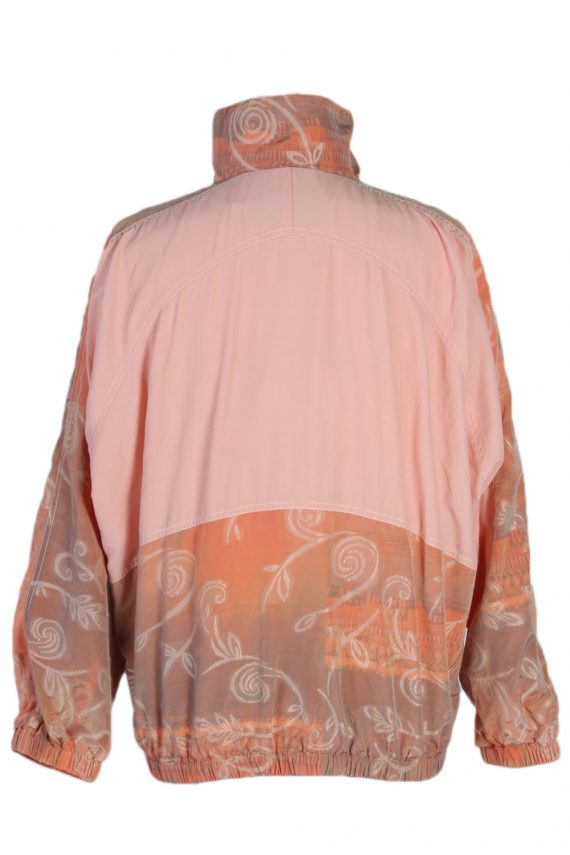 Vintage Authentic Klein Printed Shell Tracksuit Top M Baby Pink -SW1883-81050