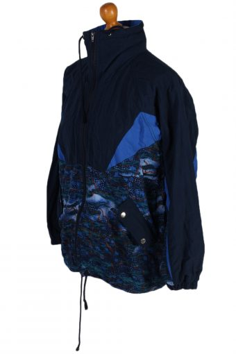 Vintage Formiluca Printed Shell Tracksuit Top M Navy -SW1886-81064