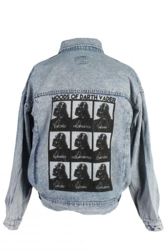 Mustang Remake Moods of Darth Vader Printed Denim Jacket Blue XL