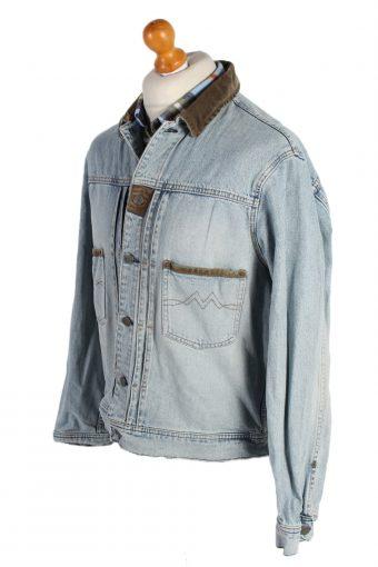 Vintage Mustang Remake Arrival Printed Denim Jacket XL Blue -DJ1464-82741