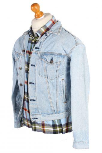 Vintage Hard Park Caf_ Remake Save the Planet Printed Denim Jacket S Blue -DJ1470-82805