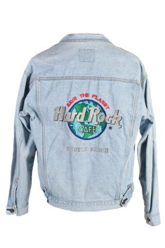 Hard Park Cafe Remake Save the Planet Printed Denim Jacket Blue S