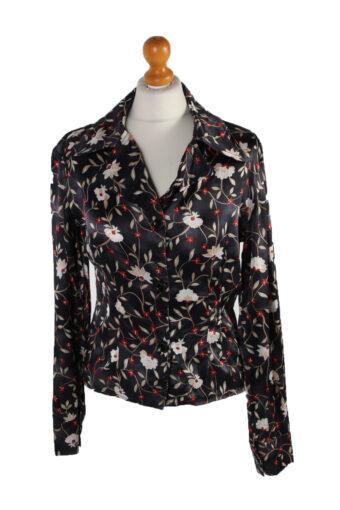 Women 90s Flower Shirt Long Sleeve S