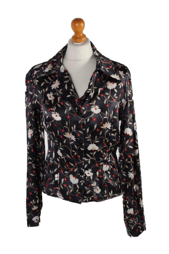 Vintage Fatto De Me Long Sleeve Flower Shirt M Multi LB097-0