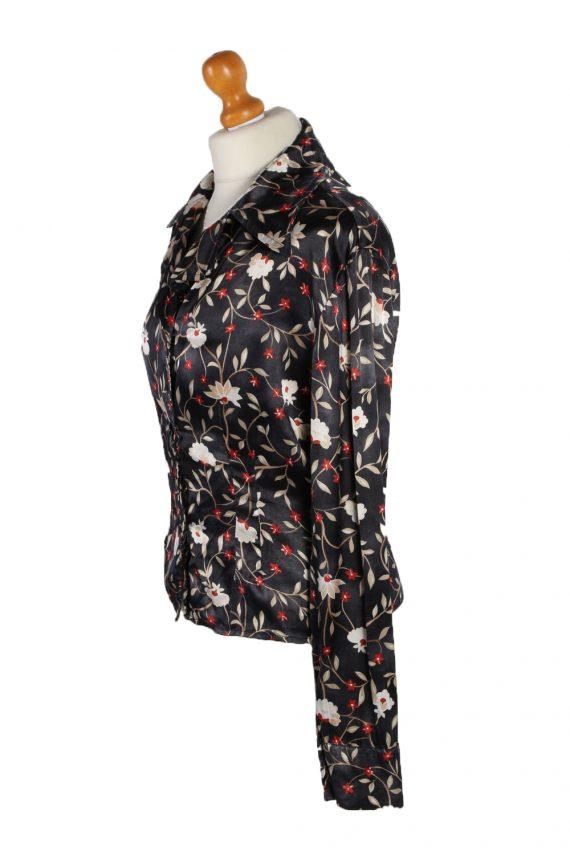 Vintage Fatto De Me Long Sleeve Flower Shirt M Multi LB097-82557